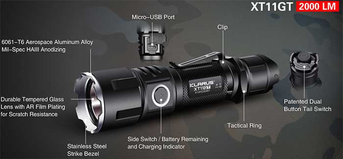2000 lumen tactical flashlights