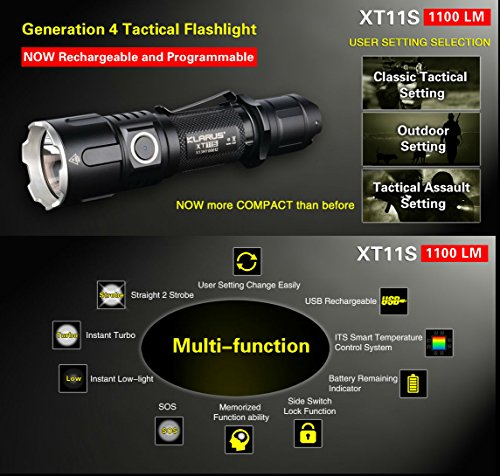 Klarus Improved XT11S rechargeable flashlight