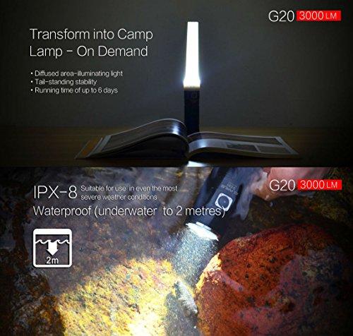 3000 lumen flashlight Klarus G20